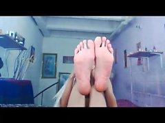 Reizvoller Transsexuelle die Füße für mich zu