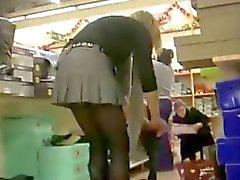 Upskirt stocking