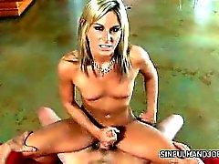 Hot Blonde Handjobs