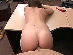 Horny amateur brunette gets hammered