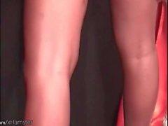 Mulatto-T-Girl zeigt ihren perfekten Arsch und perky Brustwarzen