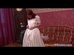 Ruiva noiva para ser brutalmente Forced fodeu