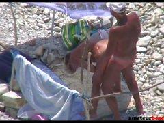 Mature nudist wife fucked on public beach