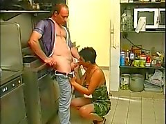 tight pussy mature fucking in the kitchen