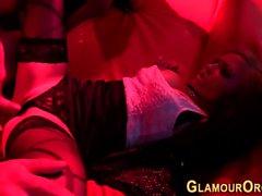 Busty glam whore slammed