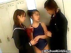 Aşırı sıcak japon kız öğrenciler
