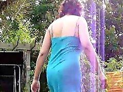Upskirt in the garden