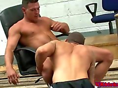 Fit English gentleman is a cock muncher
