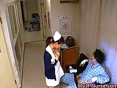 Japanese nurses sucking