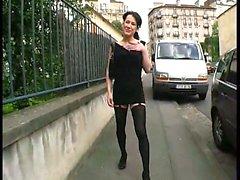 Shania analfucked in stockings
