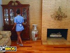 BANGBROS - MILF Julia Ann Stepmom Threesome With Latina Maid Abby Lee Brazi