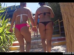 Big Butt Thongs Bikini Seksi Latinas Beach Voyeur Close