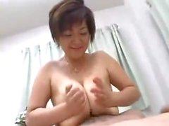 Hot Big-tit Asian MILF fucks hard cock