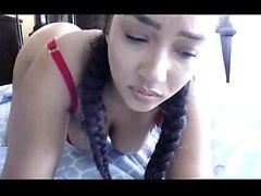 Beautiful Latin teen fingering pussy live video