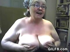 Fat Granny With Large And Saggy Breasts
