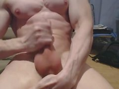 White Muscle God Jacks Off & Cums wieder