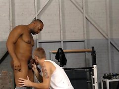 Black guy banging hunk