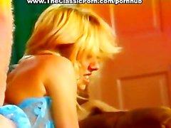 Teen looking blonde fucks like slut