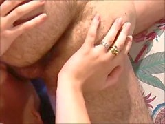 french chick brown - hairy pussy - hairy fucking