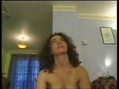 Horny brunette MILF Kathy plays with her pussy and gets fucked