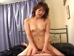 Tit fuck and Blowjob with Japanese MILF