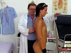 Natural tits pornstar gaping with cumshot