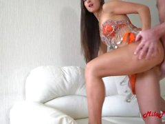 Rough Anal, cum on the face, pissing, belly dance. Mila Fox
