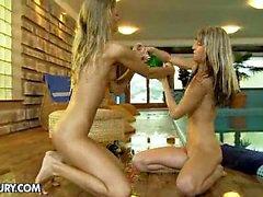 NudeFightClub presents Champagne showers