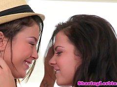 Lesbian girlfriend tribbing after oralsex