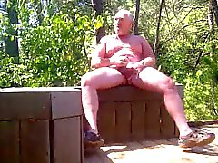 Daddy caught jerking in public