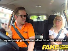 Fake Driving School Stunning blonde gets creampie