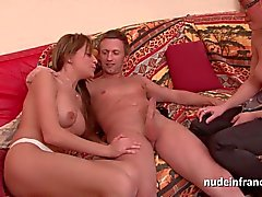 Pretty french milf hard anal casting couch