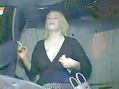 Very Horny Fat Chubby Party Girl cumming in Taxi Cab-P3