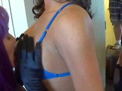 Tit Slapping Dirty Talk Lesbians