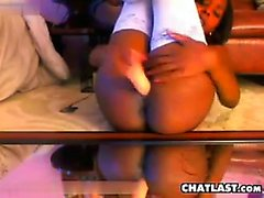 Horny Ebony Chick With Toys