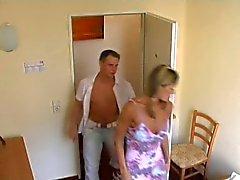 The last of the series: Hidden camera in German hotel room
