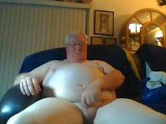 cum abuelo en la webcam