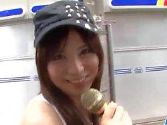 sapıkça Karen Natsuhara boyunca güzel üçlü eylem