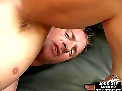 Hot muscle guy masturbates