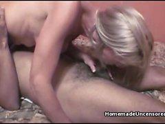 Kinky amateur couple making a sex tape