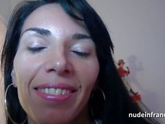 Gorgeous french milf hard anal penetration and facial in pov