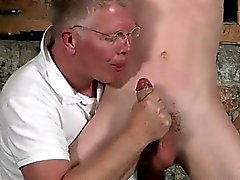 Hot gay scene Sean McKenzie is roped up and at the mercy of