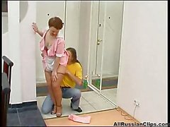 Russian housewife fucked in the kitchen