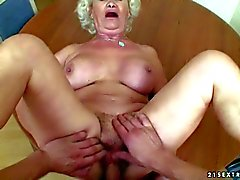 Hairy granny Effie gets screwed from your point of view