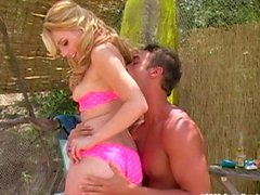 Lexi Belle and Rocco Reed sex outdoors