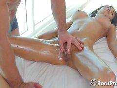 PornPros Big ol boobie Shay Evans massage fuck and facial