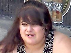 Fat chick upskirt