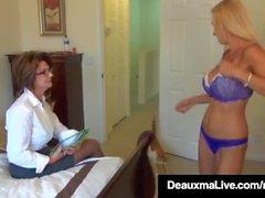 Cornea Milf Deauxma & Brooke Tyler Fica piacere a vicenda!
