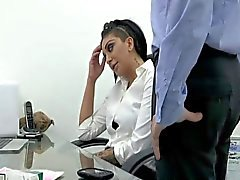 Smoking office babe