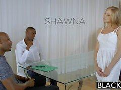 Blacked Personal Assistant Shawna Lenee ama gli uomini nera